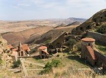 Complexe het klooster van David Gareja Stock Foto