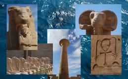 Complexe Karnaktempel, Egypte Stock Afbeelding