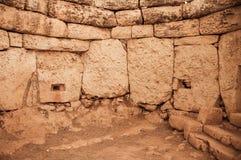 Complexe Megalitictempel - Hagar Qim in Malta Royalty-vrije Stock Afbeeldingen