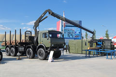 Complexe mobile militaire de scierie Images libres de droits