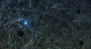 Complexe netwerksamenvatting Stock Foto
