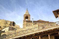 Complexe orthodoxe géorgien David Gareja de monastère images libres de droits