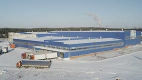 Complexe panoramaproductie Behandeld met Sneeuw stock footage