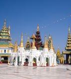 Complexe paviljoenen van Shwedagon Stock Afbeeldingen