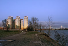 Complexe résidentiel à St Petersburg Photo stock
