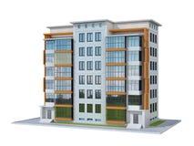 Complexe résidentiel moderne européen outdoors illustration libre de droits