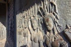 Complexe un de temple antique d'Angkor Vat des plus grands monuments religieux dans le site de patrimoine mondial du monde et de  images stock
