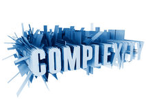 Complexity. Conceptual illustration on the subject of complexity and modern technology royalty free illustration