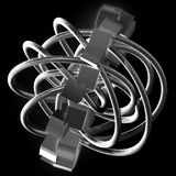 Complexity. Digital conceptula abstract graphic three dimensional design vector illustration