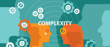 Complexity concept illustration vector head thinking Stock Photography