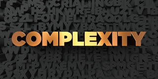 Complexity - Gold text on black background - 3D rendered royalty free stock picture Stock Photo