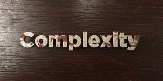 Complexity - grungy wooden headline on Maple  - 3D rendered royalty free stock image Royalty Free Stock Image