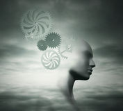 Complexity mind. Fantasy background represent the complexity of a human mind stock illustration