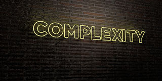 COMPLEXITY -Realistic Neon Sign on Brick Wall background - 3D rendered royalty free stock image Royalty Free Stock Image