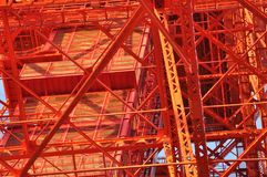 Complexity of Tokyo tower construction. Stock Image