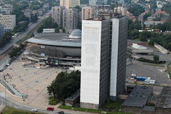 Complexo da arena em Katowice foto de stock royalty free
