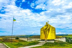 Complexo 01 da fortaleza de Khotyn fotos de stock