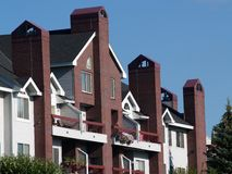 Complexo de apartamentos Foto de Stock Royalty Free