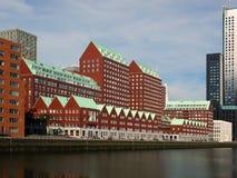 Complexo de apartamentos De Compagnie em Rotterdam foto de stock