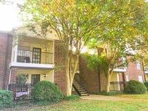 Complexo de apartamentos típico em Dallas Fort Worth suburbano, Texas mim imagem de stock royalty free