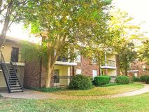 Complexo de apartamentos típico em Dallas Fort Worth suburbano, Texas mim foto de stock royalty free