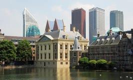 Complexo de Binnenhof das construções para político - Mau Fotografia de Stock Royalty Free