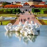 Complexo de construção do Belvedere em Viena, Áustria imagem de stock royalty free