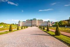 Complexo de construção do Belvedere em Viena, Áustria foto de stock