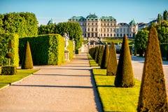 Complexo de construção do Belvedere em Viena, Áustria imagens de stock