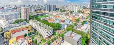 Complexo de construção do condomínio de Singapura na vizinhança de Kallang fotografia de stock royalty free