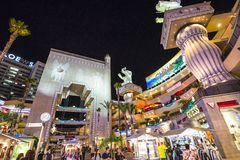 Complexo de Hollywood e de montanhas fotografia de stock royalty free
