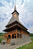 Complexo de madeira ortodoxo do monastério de Rozavlea Foto de Stock Royalty Free