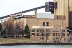 Complexo de Nipsco na cidade de Michigan, Indiana Fotos de Stock Royalty Free