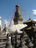 Complexo de Swayambhunath Fotos de Stock Royalty Free