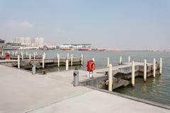 Complexo do entretenimento no cais do pescador de Macau imagem de stock
