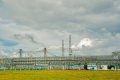 complexo do Gás-produto químico na produção do polipropileno Fotografia de Stock Royalty Free