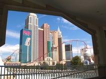 Complexo do hotel de New York New York em Las Vegas. foto de stock