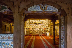 Complexo do monastério de Barsana fotografia de stock