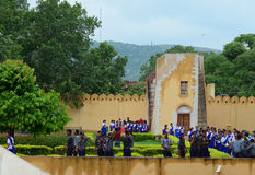 Complexo do obervatório de Jantar Mantar em Jaipur Imagem de Stock Royalty Free