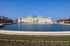 Complexo do palácio do Belvedere em Viena, Áustria fotos de stock