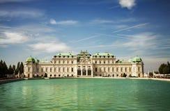 Complexo do palácio do Belvedere em Viena barroco Fotografia de Stock