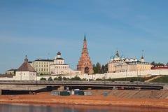 Complexo do palácio do regulador no Kremlin de Kazan fotos de stock royalty free