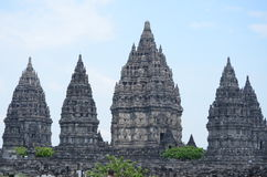 Complexo do templo de Prambanan em Yogyakarta Fotografia de Stock