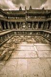 Complexo do templo e do Angkor Wat Khmer de Bayon em Siem Reap, Camboja Fotografia de Stock Royalty Free