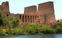 Complexo do templo na ilha de Agilkia (Egito) Imagem de Stock