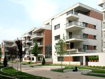 Complexo dos apartamentos foto de stock