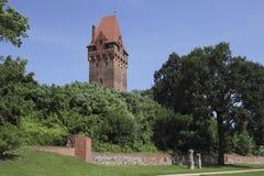 Complexo em Tangermuende, Alemanha do castelo fotos de stock royalty free