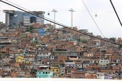 Complexo fa la cabina di funivia di Alemão in Rio de Janeiro Fotografia Stock
