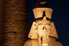 Complexo famoso na noite, Egito de Templo de Luxor Fotografia de Stock