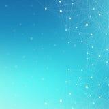 Complexo grande dos dados Uma comunicação abstrata gráfica do fundo Contexto da perspectiva da profundidade Disposição mínima com Fotografia de Stock Royalty Free